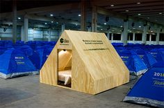 An oasis of wood in the middle of Nylon, mostly Campus Party in the world. Campus Party, Wood, House, Middle, Timber Furniture, Timber House, Sheds, Woodworking, Houses