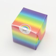 7 Colored MT Washi Tapes in Rainbox Box MT07P001