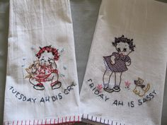 Vintage dish towels