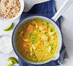 One-pot coconut fish curry recipe Fish Curry Coconut, Coconut Curry Sauce, Recipes With Coconut Cream, Coconut Recipes, Curry Recipes, Fish Recipes, Seafood Recipes, Bbc Good Food Recipes, Healthy Recipes