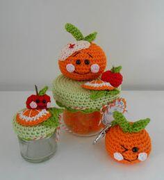 Bizzy Bee Klaske: Jack is Back...nieuw patroontje Crochet Cozy, Diy Crochet, Crochet Crafts, Crochet Doilies, Crochet Projects, Crochet Jar Covers, Crochet Fruit, Halloween Crochet, Easy Crochet Patterns