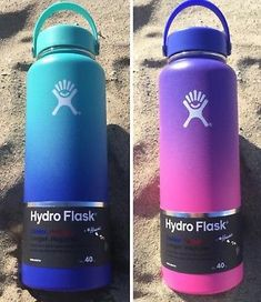 New NEW Hydro Flask Ombre Limited Edition Hawaii Moana Blue and Anuenue Purple 40 oz Outdoor Sports. offers on top store Hydro Flask Water Bottle, Insulated Water Bottle, Vsco, Coffee Shops, Custom Hydro Flask, Plastic Bottle Flowers, Cute Water Bottles, Bottle Shop, Stainless Steel Water Bottle