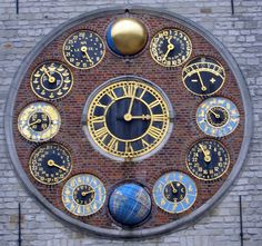 Astronomical Clock Zimmertoren on Zimmer Tower in Lier, Belgium. In astronomer and clockmaker Louis Zimmer built the Jubilee (or Centenary) The clocks consist of 12 clocks. Unique Clocks, Cool Clocks, Globes Terrestres, Father Time, Time Clock, Sundial, Telling Time, Ticks, Antiques