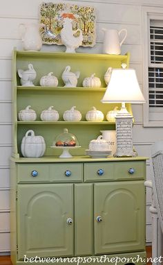 Painting Stained Furniture: A China Hutch Makeover