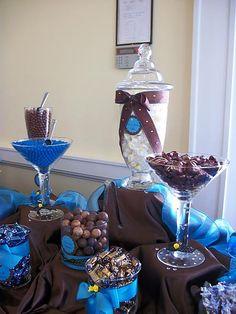 Malibu Blue AND silver Wedding Decorations | My wedding candy buffet, how wonderful it was! « Weddingbee Gallery