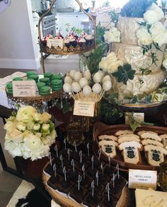 "The food stuck to the theme with Red Wedding Red Velvet cupcakes, House Carter cookies, and Dragon Egg chocolate cake pops. | Nick Carter's Wife Had An Amazing ""Game Of Thrones""–Themed Baby Shower"