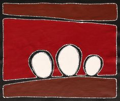 Aboriginal Artwork by Sally Clark. Sold through Coolabah Art on eBay. Cataogue ID 15800