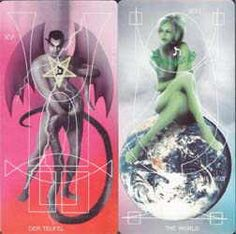 The Adrian Tarot has digitally edited photographic images with a very modern, sexy feel. 01