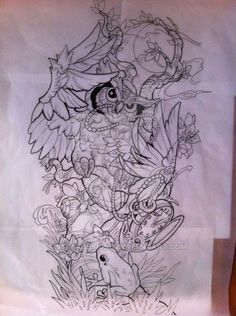 owl sleeve no color by 5stardesigns on DeviantArt