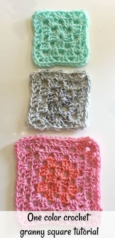 one color crochet granny square video tutorial perfect for beginners with step by step instructions