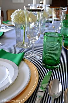 emerald and gold table