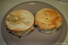 Chicken pot pies from scratch.