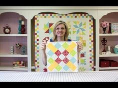 Wishes Quilt Along Block Seven: Courthouse Lawn - Fat Quarter Shop - YouTube