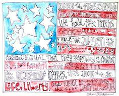 American Flag Art artbyerinleigh
