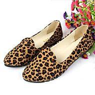 Calçados+Femininos-Sapatilhas-Conforto-Rasteiro-Amarelo+/+Bege-Flanelado-Ar-Livre+/+Casual+–+EUR+€+19.59