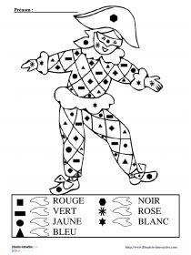 Librairie-Interactive - Coloriage magique Arlequin