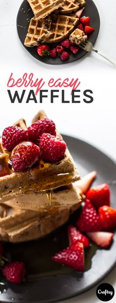 This fast and easy gluten free waffle recipe will impress all guests no matter their diet! Get the Mother's Day approved recipe at Craftsy!