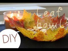 DIY Leaf Bowl (Fall Home Decor) - YouTube