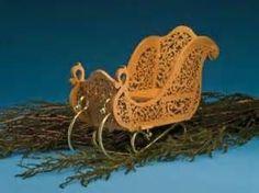 Scroll Saw Woodworking & Crafts - Nostalgic Sleigh Centerpiece
