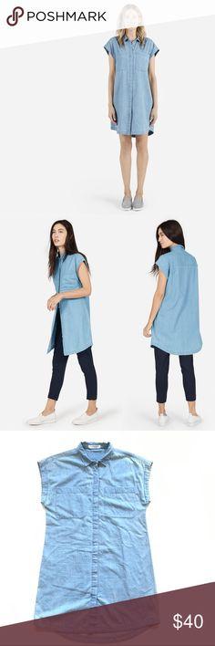 Everlane Sleeveless Light Denim Shirt Dress Like new. 100% cotton. Length is 33 in front, 36 in back. Chest is 20. Thanks Everlane Dresses