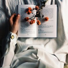 Flowers and books go surprisingly well together