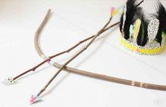 disfraz indio arco y flechas 600x386 DIY. Como hacer un disfraz casero de india sencillo y chic
