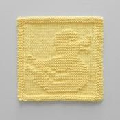 Rubber Duck Knit Dishcloth / Wash Cloth