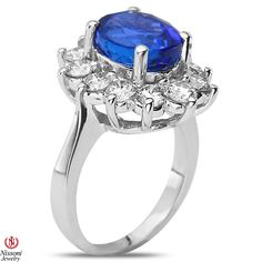 Ebay NissoniJewelry presents - 1 3/4CT Diamond Fashion Ring with Tanzanite 14k White Gold  1.8CT    Model Number:FR8310S-W477TA    http://www.ebay.com/itm/1-3-4CT-Diamond-Fashion-Ring-with-Tanzanite-14k-White-Gold-1.8CT/321612077153