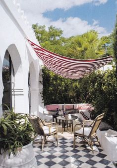 Outdoor Terrace with canopy