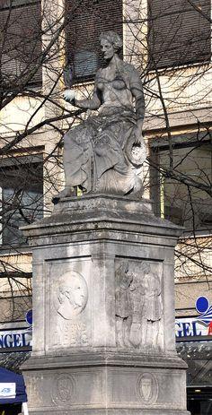 Darmstadt Luisenplatz Justus-Liebig-Denkmal