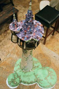 Tangled Rapunzel tower cake.  Wow.