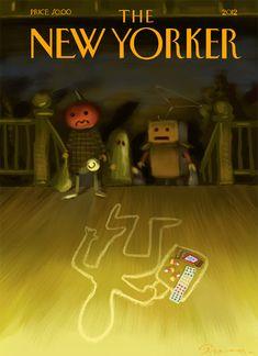 new yorker halloween covers Halloween Artwork, Halloween Painting, Halloween Themes, Happy Halloween, Halloween Decorations, Samhain Halloween, The New Yorker, New Yorker Covers, Christmas Cover