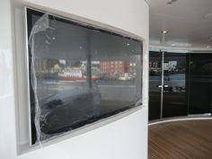 Videotree Outdoor TV installed in Sunseeker Princess AVK Yacht in Deck Area