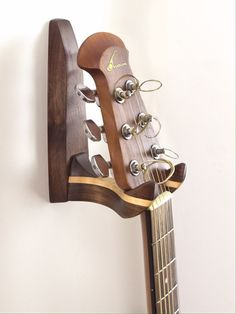 Elegant Oil Rubbed Walnut and Maple Guitar Wall Hanger by Feneg, $40.00