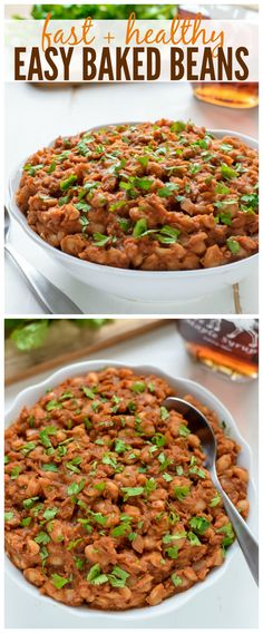 Easy Baked Beans made of healthy, real ingredients that are ready to go in only 30 minutes!