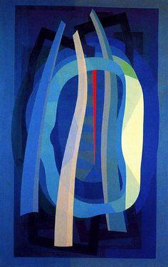 Emilio Pettoruti ~ Winter in Paris, 1955 (oil on canvas)