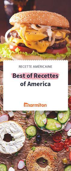 Burgers, bagels, tarte au potiron... découvrez l'Amérique à travers ces recettes incontournables #marmiton #recette #cuisine #amérique #bagel #burger