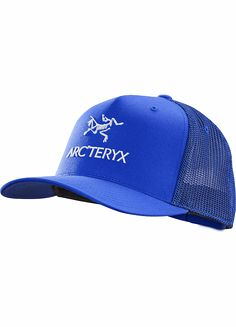 Classic cotton trucker hat with a rubberized Arc'teryx bird and word graphic on the front, air permeable mesh on the back and snap back adjustment strap.Accessory Features •Classic trucker hat style•Polyester mesh backing provides ventilation•Snap back adjustment strap•Mesh - 95% polyester, 5% polyurethane elastane•Self - 97% cotton, 3% elastane