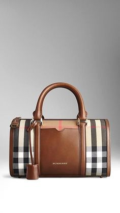Medium Sartorial House Check Bowling Bag | Burberry