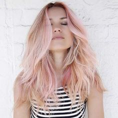 Blonde and Rose Gold Hair Combo