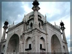 "Bibi Ka Maqbara is situated about 5 kms from the Aurangabad city, the burial place of Aurangzeb wife, Rabia-Durrani. Aurangzeb's son built this monument in 1679 AD in memory of his mother Rabia-Durrani. It is an imitation of the Taj Mahal (among 7 new wonders of world) at Agra, it is also called as ""poor man's Taj Mahal"" owing to it being a poor replica of the Taj. Behind the tomb is located a small archeological museum."