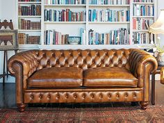 sofa for a future study...love antiqued nailheads.