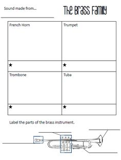 Elementary Music Methods: Real Life Edition: Instruments of the Orchestra Study Guide for 4th Grade