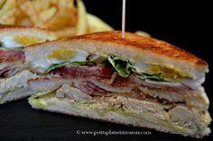 club sandwich sur ardoise