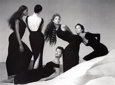 Naomi,Kristen, Linda,Stephanie, and Christy for VersaceS/S...