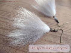Faire des boucles d'oreille et un collier en fourrure recyclée - Tuto – Bonjour Handmade par AnnyMay