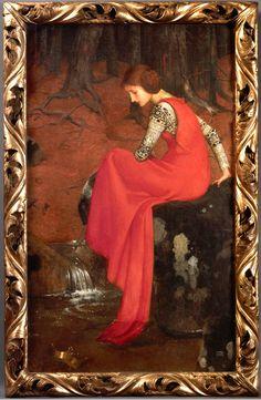 Marianne Stokes, Melisande, 1895. Tempera on canvas. Wallraf-Richartz-Museum & Fondation Corboud, Cologne. Photo Wolfgang Meier. Source