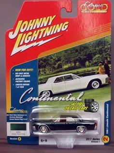 1:64 JOHNNY LIGHTNING CLASSIC GOLD 2017 1B - 1961 LINCOLN CONTINENTAL #JohnnyLightning #Lincoln