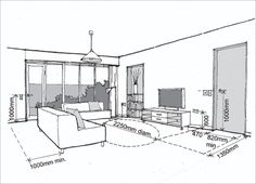 Residential Building Regular Room Dimensions and Appropriate Placements - Engineering Feed Living Room Size, Living Room Plan, Living Room Images, Indian Living Rooms, Living Room Furniture Layout, Living Room Windows, Interior Design Living Room, Living Spaces, Bathroom Vanity Sizes