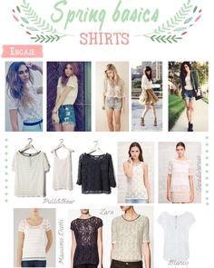 Lace shirts and short shorts - Summer and Spring Basics #outfits